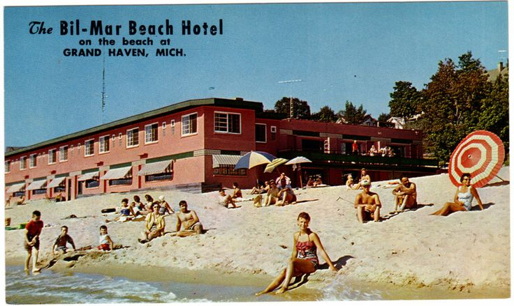 Postcard The Bil Mar Beach Hotel Bil Mar Inn in Grand