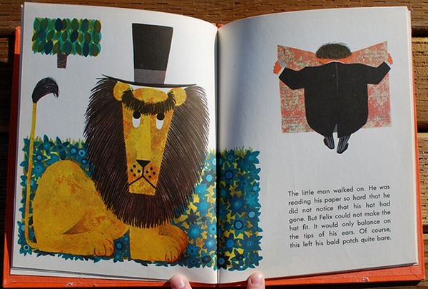 Kenneth Townsend, Felix, The Bald-Headed Lion, A Seymour Lawrence Book, Delacorte Press Edition, 1967. Illustrated by Kenneth Townsend via Flavorwire.