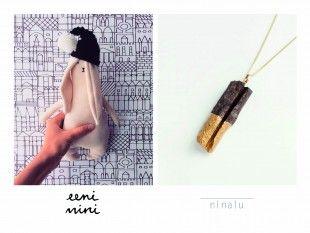 eeni mini & ninalu Minimalistic handmade eeni mini - toys out of organic materials ninalu - jewellery of wood/metal ninalu.org