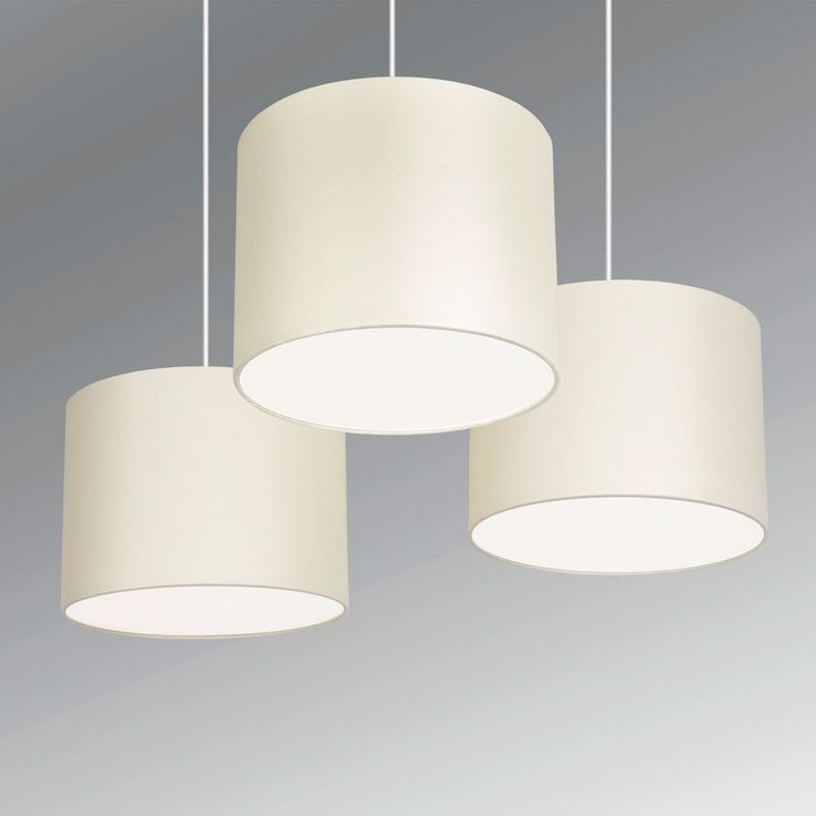 68 best lamp shades with diffusers images on pinterest lamp set of 3 cream ceiling light pendant drum lampshades with frosted diffusers new mozeypictures Gallery
