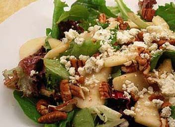 Pear, Walnut and Blue Cheese Salad with Maple Dijon Dressing is my take on a favorite from Nordstrom's Cafe.