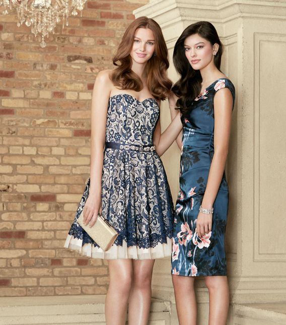 The blue dress on the right look like the person walk out from a drawing.