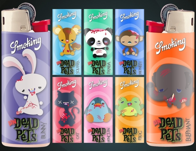 "UNdead Pets by Mdk7 - from ""SMOKING's Unruly Lighters Only"" graphic design & illustration contest"