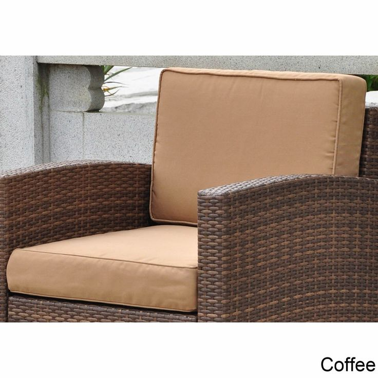 Blazing Needles International Caravan Corded Replacement Cushions For Barcelona Chair Set Of 2