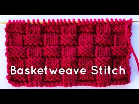 How to Knit the Basketweave Stitch - YouTube