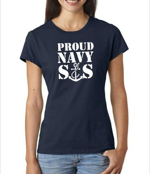 Navy Sister Tshirt Hannah navy sister proud by BarbGrajekDesign