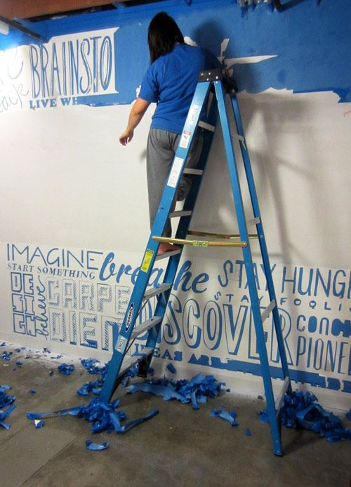 Paint Tape Design Ideas wall designs with tape wall design using painters tape our house pinterest wall best pictures Painters Tape Hand Cut Typographic Wall Erin Scott Designer