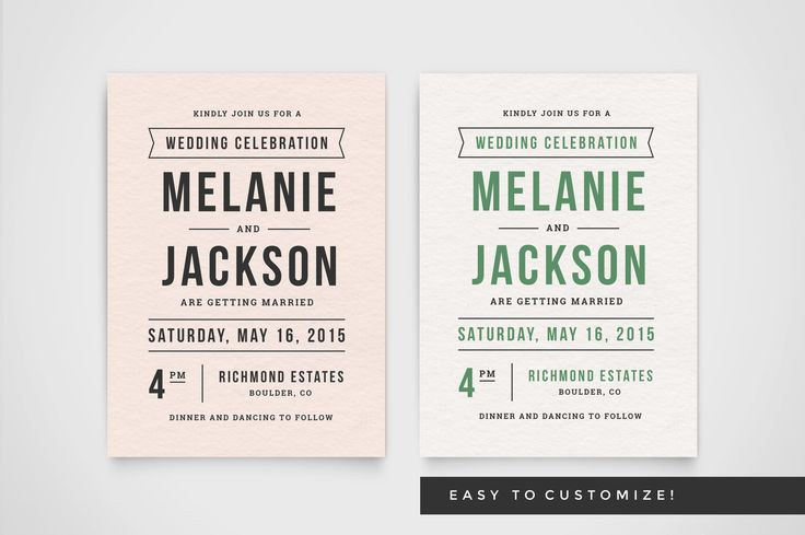 Delight your guests with this lovely wedding invitation template and matching rsvp and info cards. Simply customize, save as PDF and send to your print shop of choice. Choose a premium