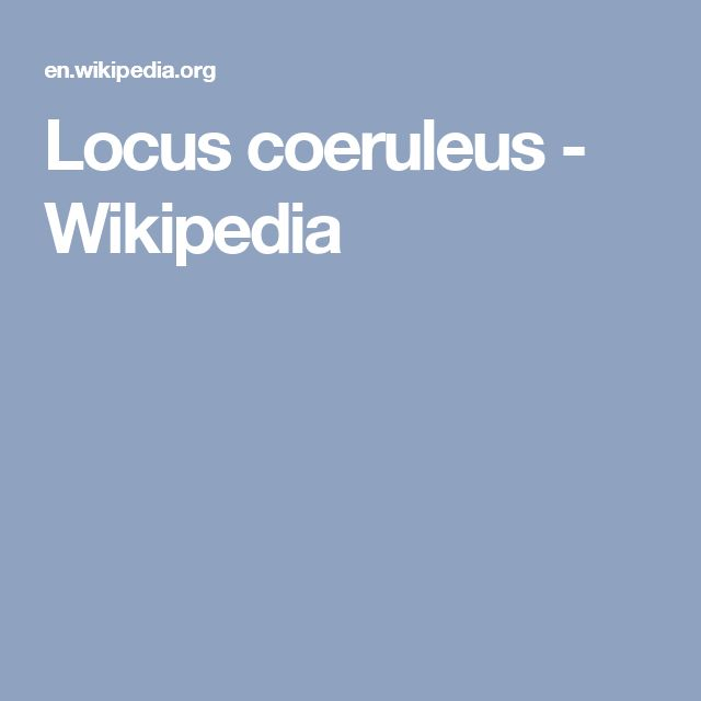 Locus coeruleus - Wikipedia