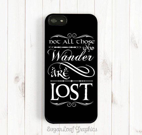Tolkien Quote iPhone Case Hobbit Font Not All by SugarloafGraphics