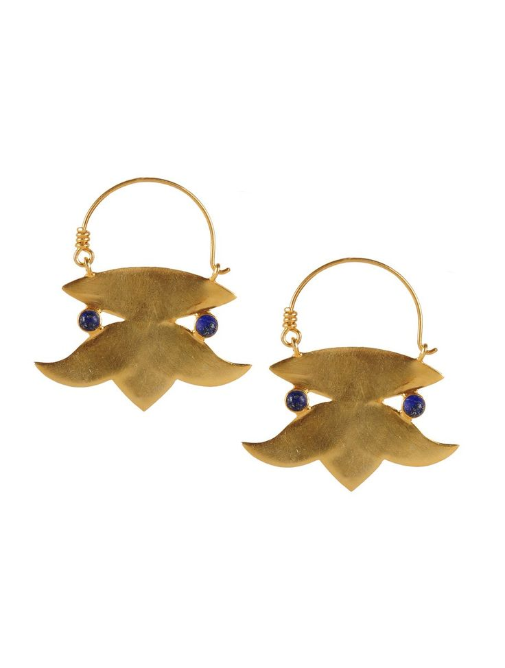 Golden Lotus Silver Earring 92.5% Sterling Jewelry #handcrafted #danglers #fashion accessories