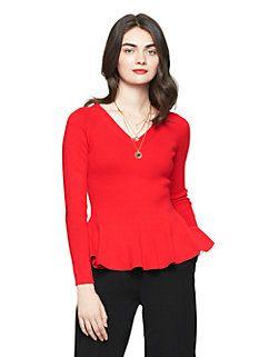 Kate Spade peplum sweater