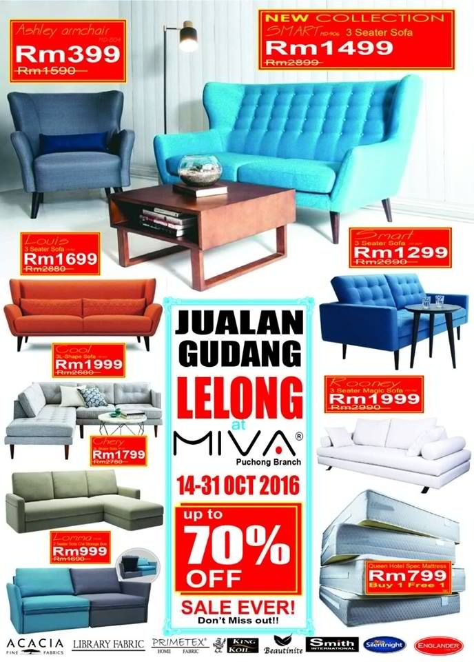 Miva Malaysia Are Having Their Warehouse Clearance Enjoy Special Offers With Up To Off On Home Furniture Itemany More