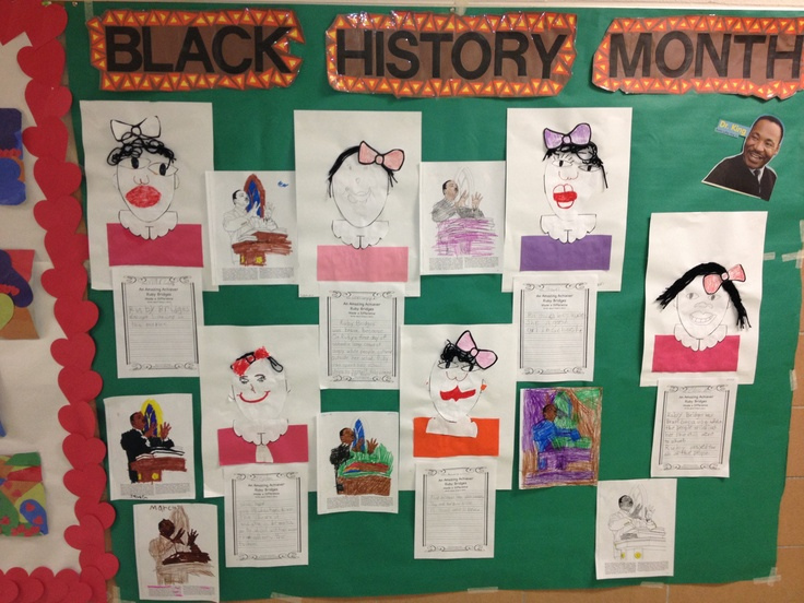 Black history month bulletin board we read the story for Black bulletin board ideas