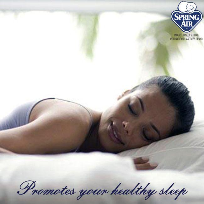 Spring Air mattresses promote your healthy and stress free sleep. #SpringAirIndia #healthy #stressfree #sleep
