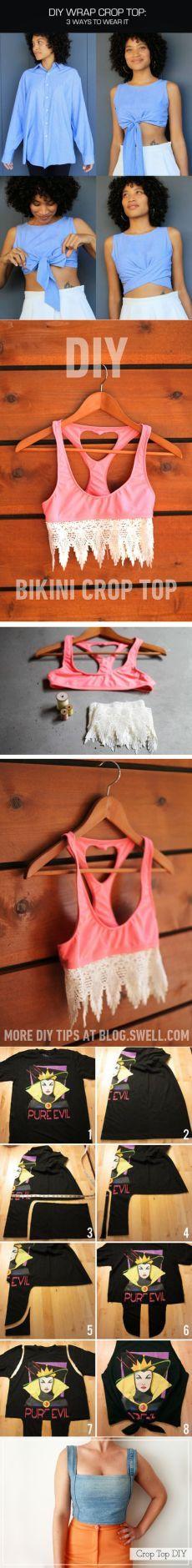 Стильные летние топы из старой одежды: 10 лучших идей | I Love Hobby - Лучшие…