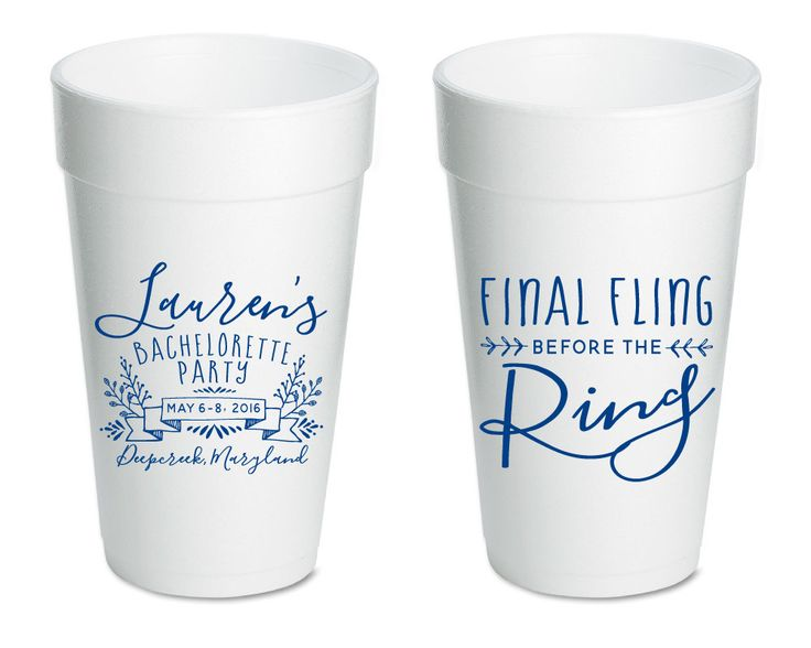 New to SipHipHooray on Etsy: Bachelorette Favor Cups Final Fling Before the Ring Bachelorette Cups Bachelorette Party Cups Party Cup Styrofoam Cups Foam Cups 1405 (55.00 USD)