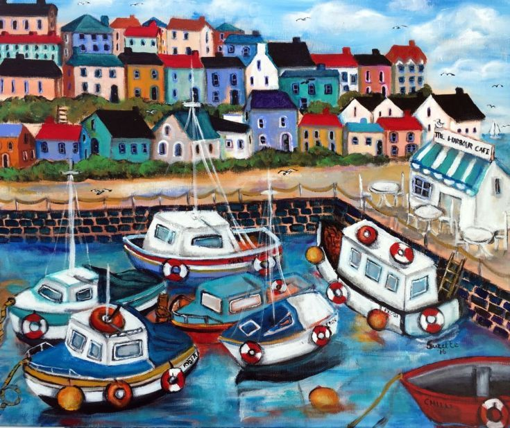 Buy The Harbour Cafe, Acrylic painting by Suzette Datema on Artfinder. Discover thousands of other original paintings, prints, sculptures and…