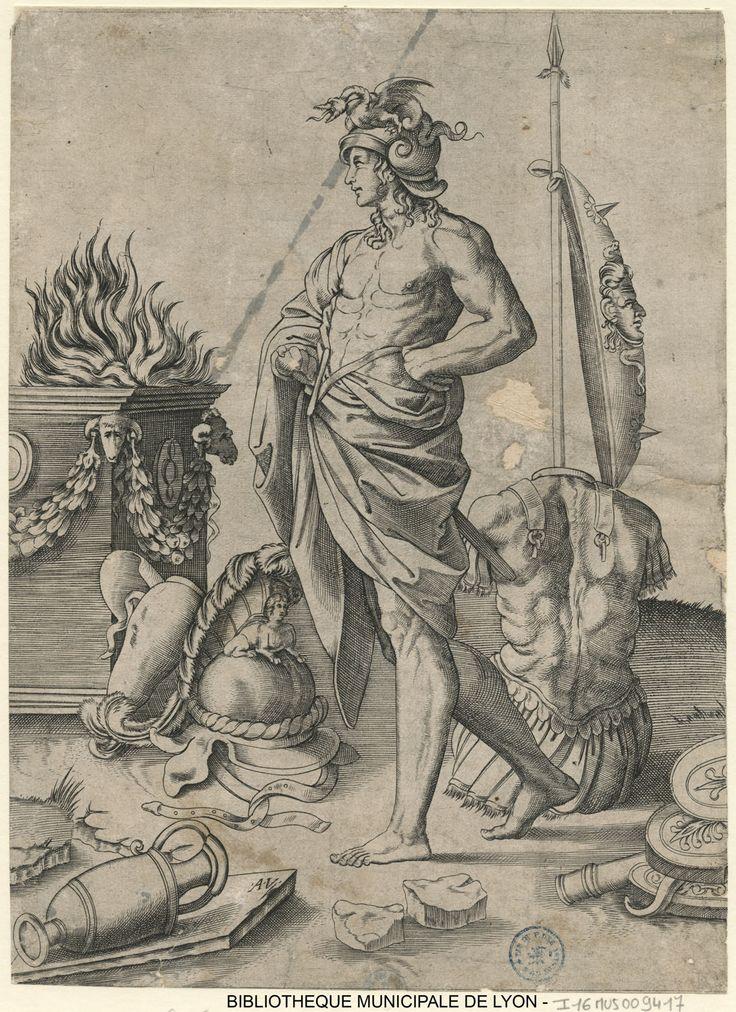 Hero by Agostino dei Musi, 1490-1540.  Bibliothèque Municipale De Lyon, Public Domain