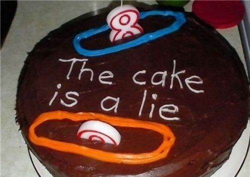 Portal birthday cake...I want to do this for Neal.