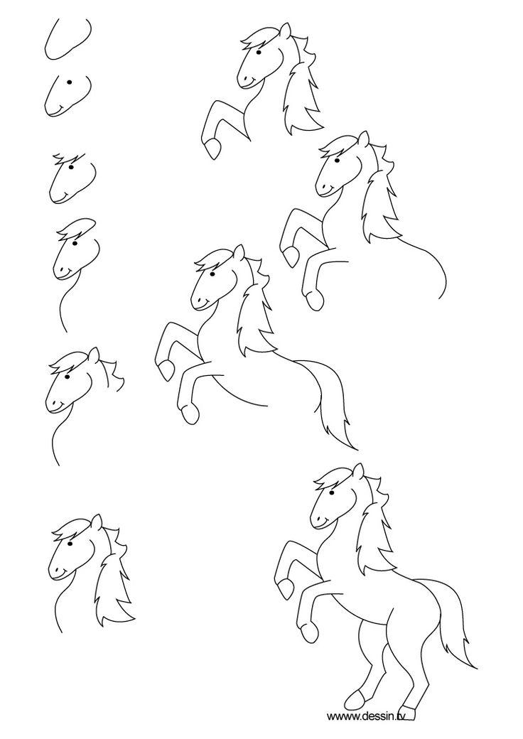 dessin poney                                                                                                                                                                                 Plus