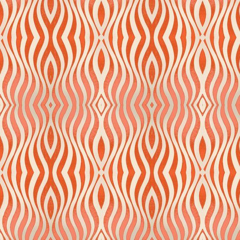 Jazz-910-coral fabric by miamaria on Spoonflower - custom fabric