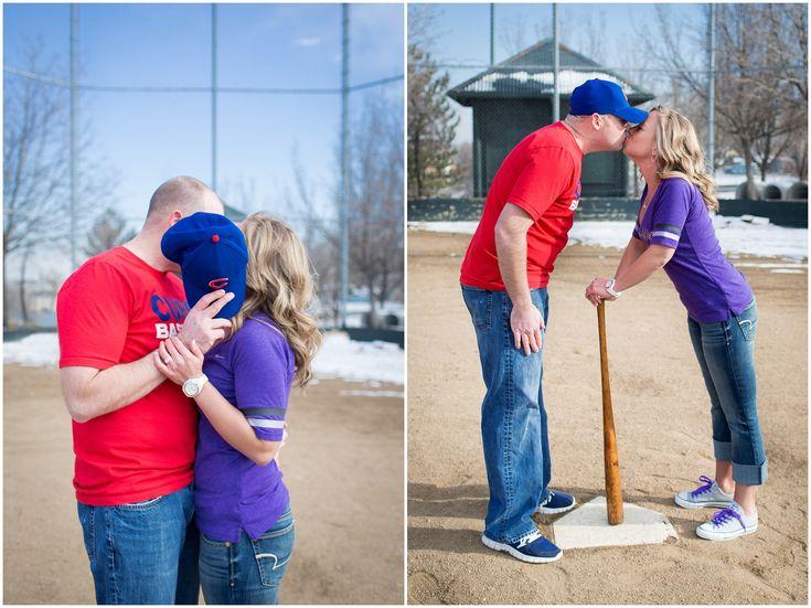 Denver Engagement Photos | Baseball Engagement Photos | Plum Pretty Photography | Urban Engagement Photos