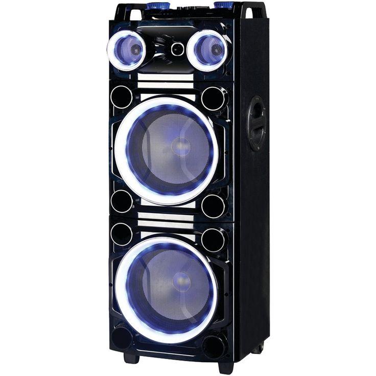 "Supersonic Pro 2 X 10"" Bluetooth Dj Speaker"