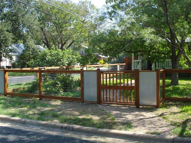 1 Residential Wood Fences Austin Courtyard Ideas