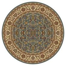 Tayse Rugs Sensation - Round Transitional Area Rug in Blue