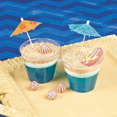 Beach Scene Dirt Cups Recipe Idea   This dessert idea will make waves at your luau or beach party! #recipes