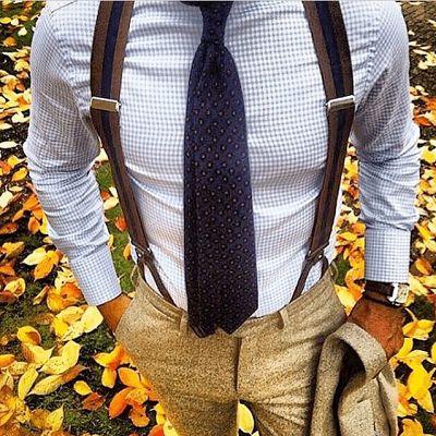 Outfit uomo bretelle