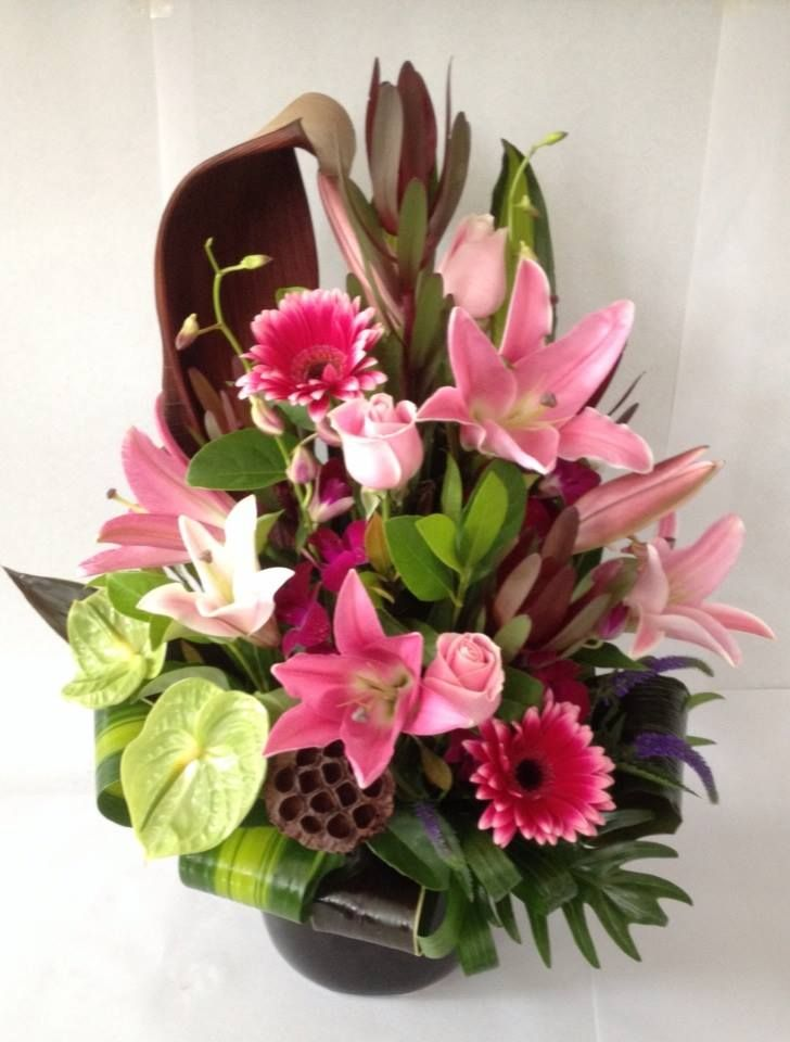 Beautiful large corporate flowers.