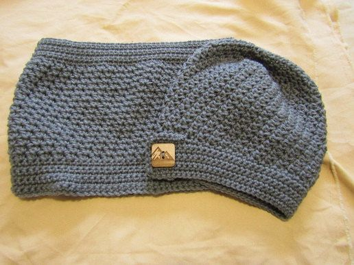 Gray Cowl & Hat Set by WarmingHeartsB1G1 on Etsy
