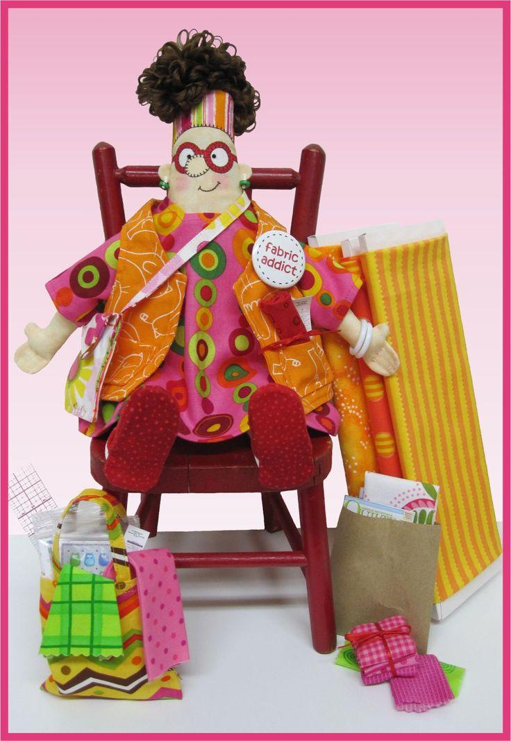 Amy Bradley Designs Fabric Addict Doll Pattern Witch