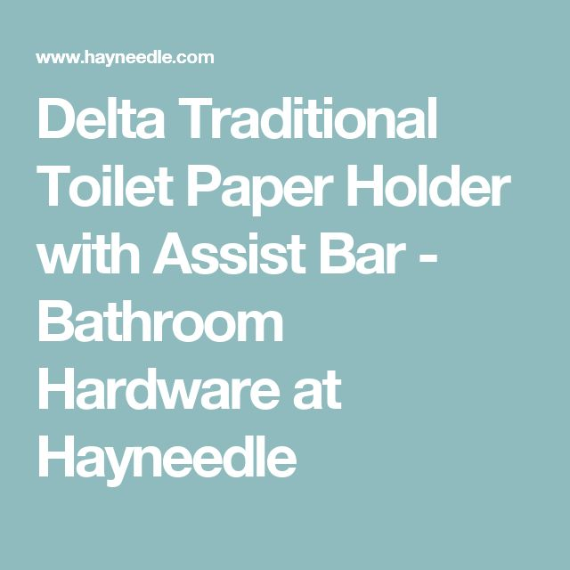 Delta Traditional Toilet Paper Holder with Assist Bar - Bathroom Hardware at Hayneedle