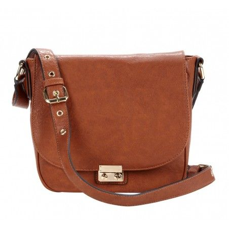 Vegan saddle bags - Sequoia - Cognac