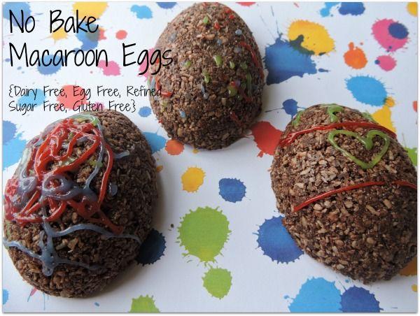 No Bake, Dairy Free, Gluten Free , Refined Sugar Free, Egg Free Macaroons