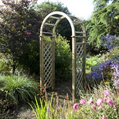 blooma chiltern wooden garden arch home delivered