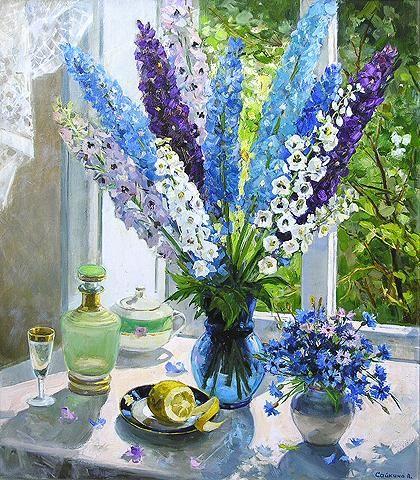 Flower Oil Paintings Pinterest