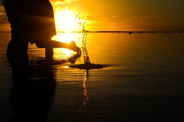 Beautiful Rarotongan sunset