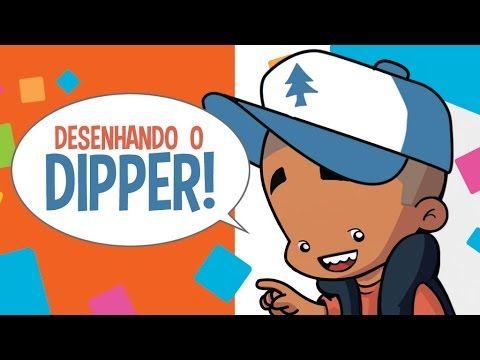 Como desenhar Dipper Gravity Falls