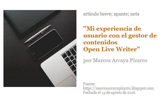 Gestor de contenidos Open Live Writer. Reseña.