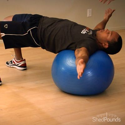 ShedPounds Exercise Tip: Stability Ball T-Lateral Roll. Watch the full video here: http://shedpounds.com/exercise/exercises/48