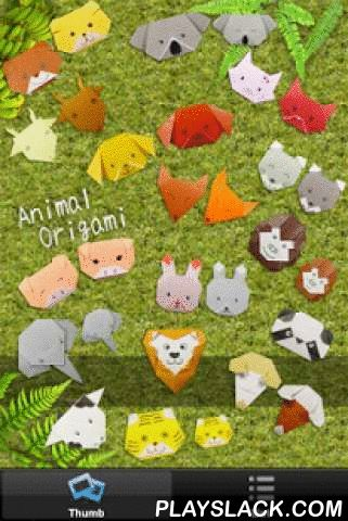 Animal Origami  Android App - playslack.com ,  Animal Origami introduces Origami, the Japanese art of paper folding. Origami can be enjoying by both children and adults. You can much more enjoy by drawing the eyes, nose or patterns on their faces. This application consists of 16 project such as dog, cat, panda and elephant and so on. Working with one's hands and combining color and paper develops children's curiosity and imagination. Let's have fun folding! INCLUDE Dog, Cat, Pig, Koala, Fox…
