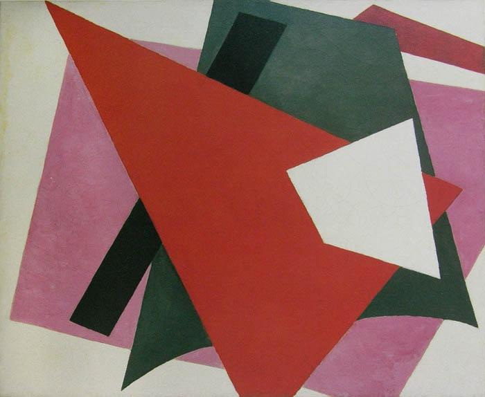 """""""Painterly Architectonic"""" by Liubov Popova (cc. 1917)"""