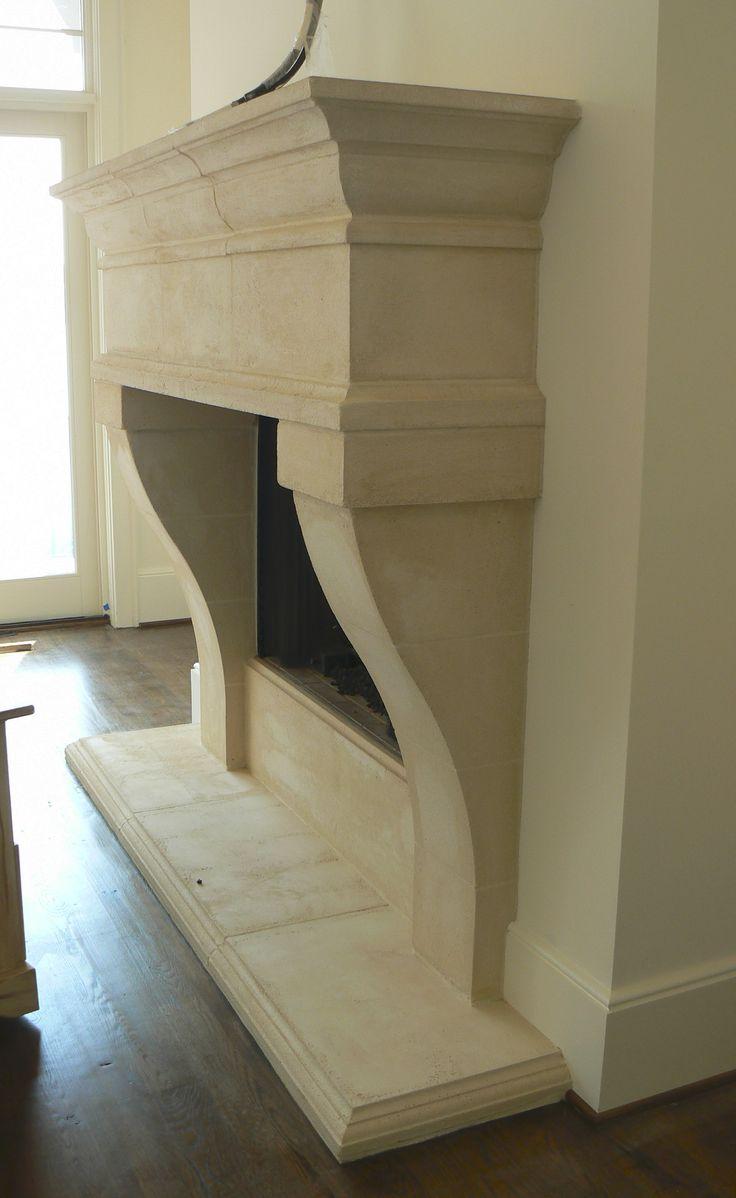 Caststone Limestone Fireplace Mantel