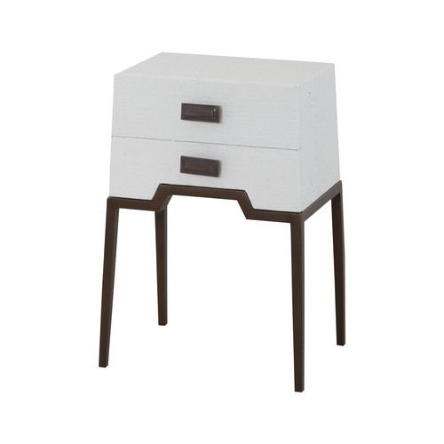 Ziggy White Accent Table - 7011-963W