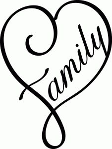 Silhouette Online Store - View Design #62303: family heart
