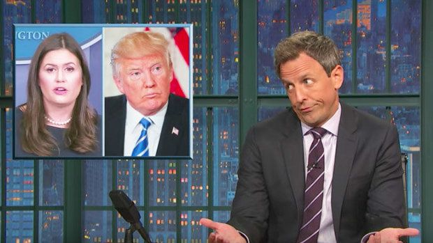 Seth Meyers: Trump's 'Unhinged' Tweets Are Haunting His Staff https://www.huffingtonpost.com/entry/seth-meyers-trump-tweets-staff_us_59cdd2e5e4b06791bb0fa418?utm_hp_ref=donald-trump